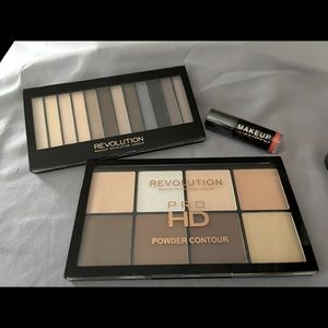 Makeup Revolution Contour and eye palette w/ LipG.